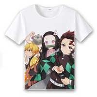 Japan Anime Unisex T-shirt Dämon Slayer Kimetsu keine Yaiba Tanjirou Kamado Nezuko Kamado Cosplay Kostüm Sommer T-shirt Casual Top