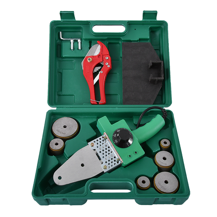 New 220V 800W PPR20-63 Plastic Welding Machine Water Pipe Plastic Welder Plumber Tools For Heating PPR Butt Welding Hot Selling
