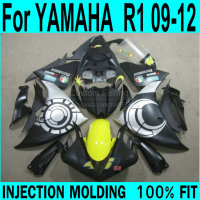 Moto Fairings For YAMAHA R1 2009 2012 ( Sun + MOON ) Injection Fairing kit free custom ll36