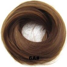 Женские Эластичные прямые синтетические шиньоны резинка для волос обертка для волос пучок шиньон аксессуары Q7, 30 г 24 цвета avialble 1 шт