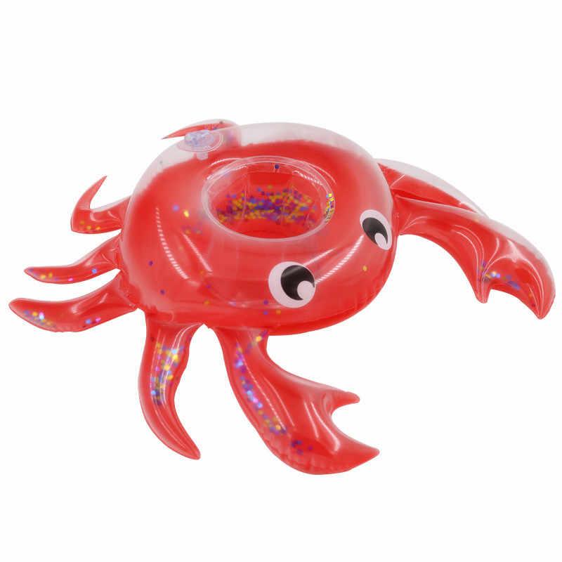YUYU Inflatable ถ้วยยูนิคอร์นผู้ถือเครื่องดื่ม Flamingo ว่ายน้ำสระว่ายน้ำสระว่ายน้ำของเล่นบาร์ Coasters