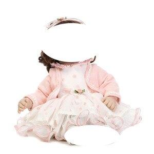 Набор милых платьев для 50-52 см, реалистичные силиконовые куклы reborn, аксессуары DIY, детские игрушки для девочек, детский подарок