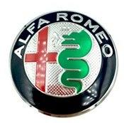 1 шт. 40 мм рулевое колесо эмблемы наклейки, автоаксессуары враг Alfa Romeo Brera 147 156 166 159 GT паук Giulietta Stelvio - Название цвета: Серебристый