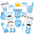 New Novelty Toys 25-Pieces Photo Booth Props for Baby Shower Baby Party with Diaper Glasses Boy And Girl Version