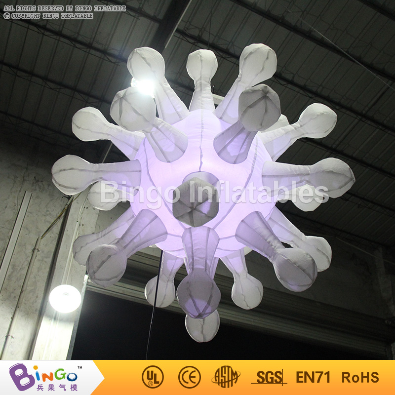 Trasporto Libero decorazioni Festa di Compleanno bambini Tipo Colori Changable Illuminazione Gonfiabile fiocco di neve Per La Decorazione giocattolo - 5