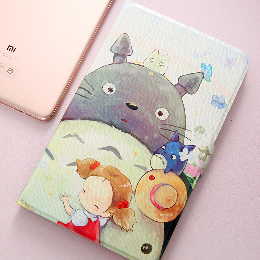 Fashion Painted Flip PU Leather Case For XiaoMi Mipad 4 Case 8.0 Inch Tablet Cover Mi Pad 4 / Mipad4 Case + Stylus + Film
