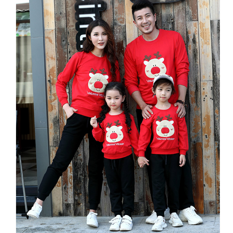 7b97f993d6a Christmas Family Matching Outfits Dad Kids Cartoon Sweater T Shirt Autumn  Cotton Mom and Me Clothes X mas Family Look Clothing-in Matching Family  Outfits ...
