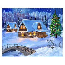 DIY Diamond Painting full Snow nature christmas tree Diamond Embroidery Snowhouse christmas tree Diamond Mosaic snow home decor christmas snow night tree antiskid bath rug