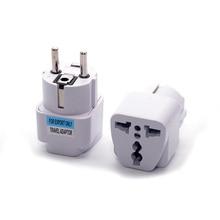 Universal Germany Korea EU AC Power Plug Adapter US/AU/UK to DE KR Plug Socket Converter Travel Plug стоимость