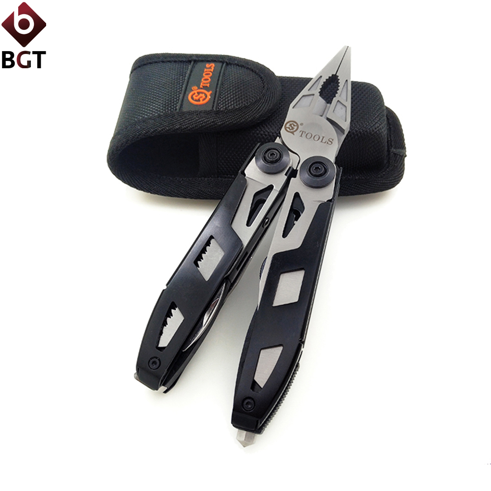 18 in 1 Multitools Plier Cable Cutter Wire Stripper Pipe Clamp Multi Tools Folding Pliers 420 Steel Nylon Case EDC Pocket Tool