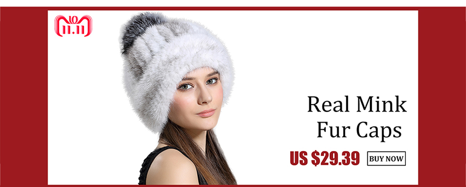 227755d3bc6 Mink Fur Hat Winter for Women s Genuine Fur Warm Cap Real Fur Bucket ...