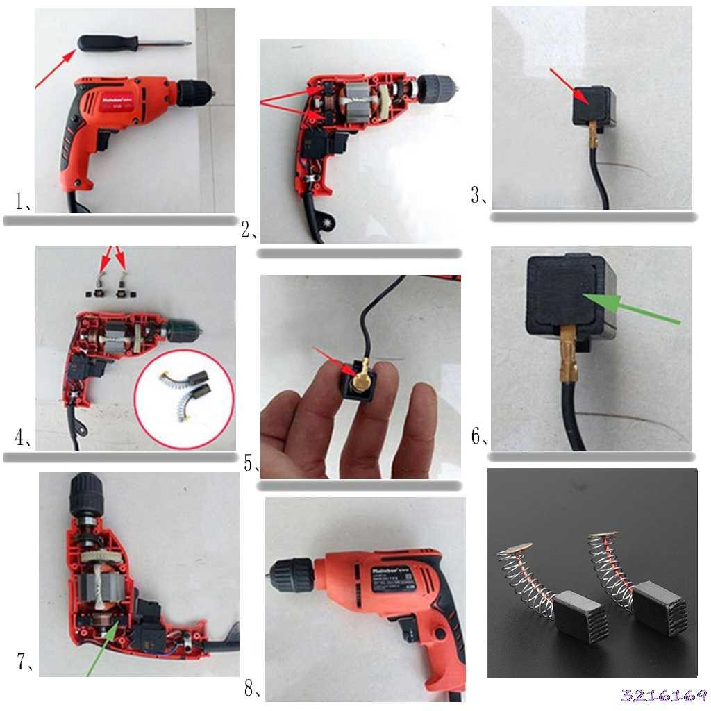 2Pcs Bor Listrik Carbon Brush Spare Part untuk DeWalt/untuk Bosch/untuk Makita Electrictool 5X8X12 Mm-501 #