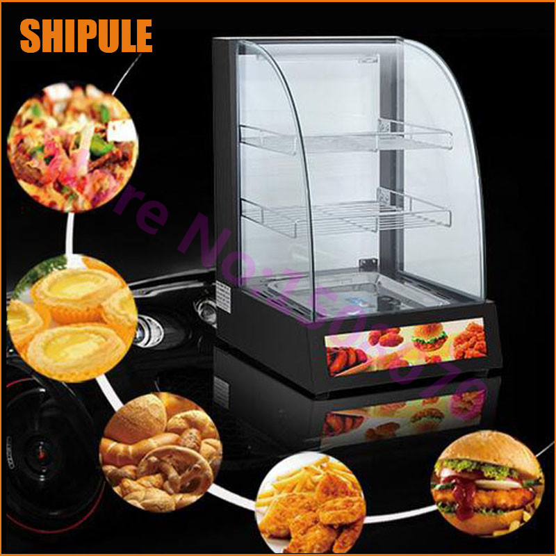 2018 professional catering KFC food warmer display/small stainless steel food showcase/Hot food display warmer price high quality hot dog display showcase food warmer stainless steel bread sandwich countertop tool