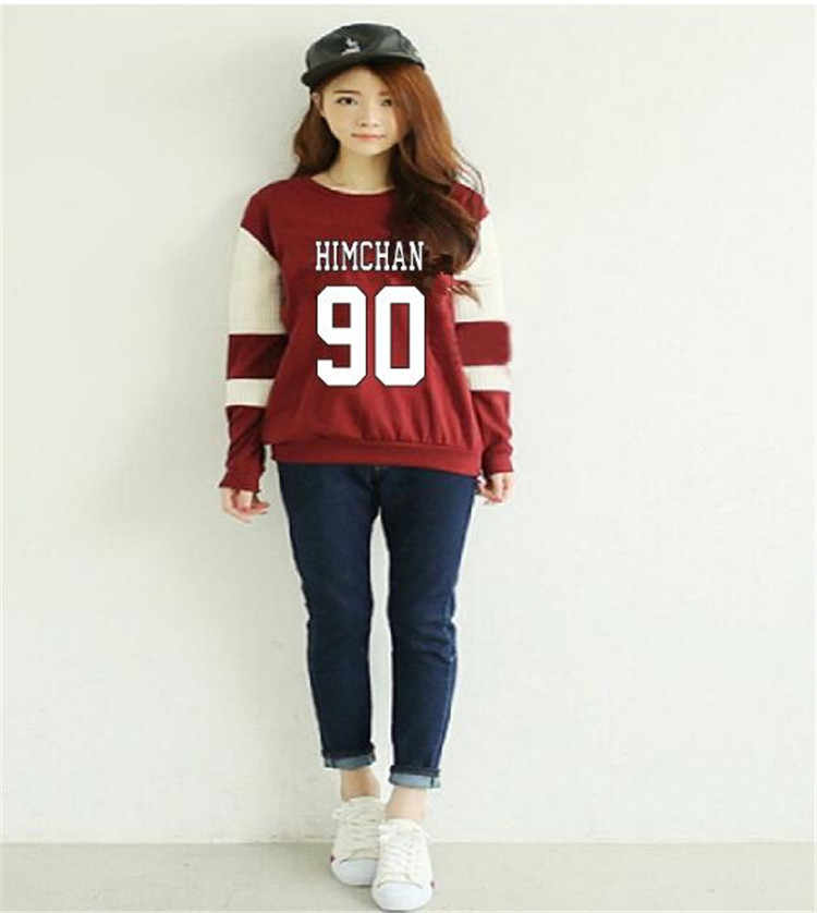 2017 Santa Cruz BAP KPOP Cotton Sweatshirt Hip-Hop Hoodies Luxury WOMEN K-POP B.A.P Hoodies patchwork Sweatshirts Sets Female