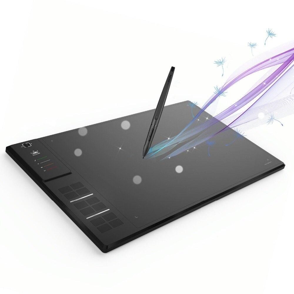 Huion giano wh1409 14-inch 8192 níveis digital sem fio comprimidos gráficos caneta tablet animação desenho tablet