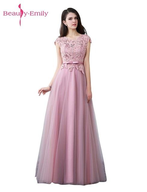 Belleza emily peras Encaje rosa oscuro por encargo Vestidos de noche ...
