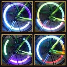 2PCS/lot Tyre Valve Caps Lights Bicycle Skull Bike Warning Cycling Lights Riding Night Driving Safety Flash Value Sealing Cap