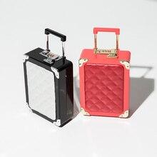 4 farben Kunststoff trolley kombination schloss anzahl handtasche abendtasche clutch für party geldbörse