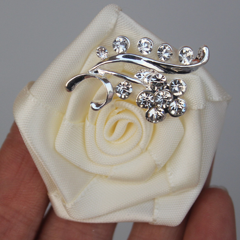 Weddings & Events ... Wedding Accessories ... 32787373475 ... 3 ... WifeLai-A 1pcs/lot Groom bride corsage rose wedding corsage Crystal Wedding Boutonnieres Flower Groom Groomsman Brooches XH0038 ...