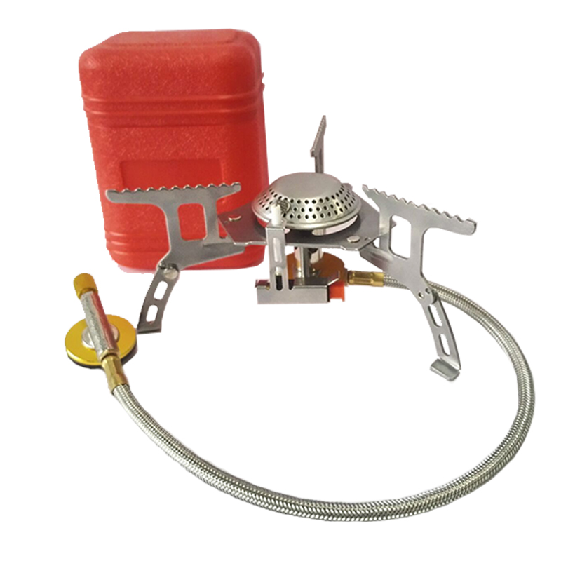 Estufa de Gas al aire libre Camping quemador de Gas plegable estufa electrónica de senderismo portátil plegable Split Stoves 3000 W