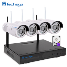 Plug And Play 4CH Wireless NVR Kit P2P 1080P HD Outdoor IR Night Vision IP Video Security CCTV Camera WIFI Surveillance System