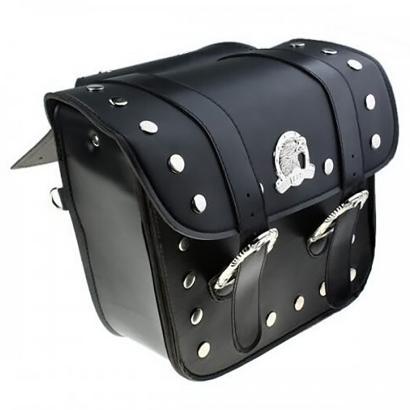 Motorcycle PU Leather Saddle bags luggage bag motorcycle side bag saddlebags (left +right ) Pouch for Harley motorcycle