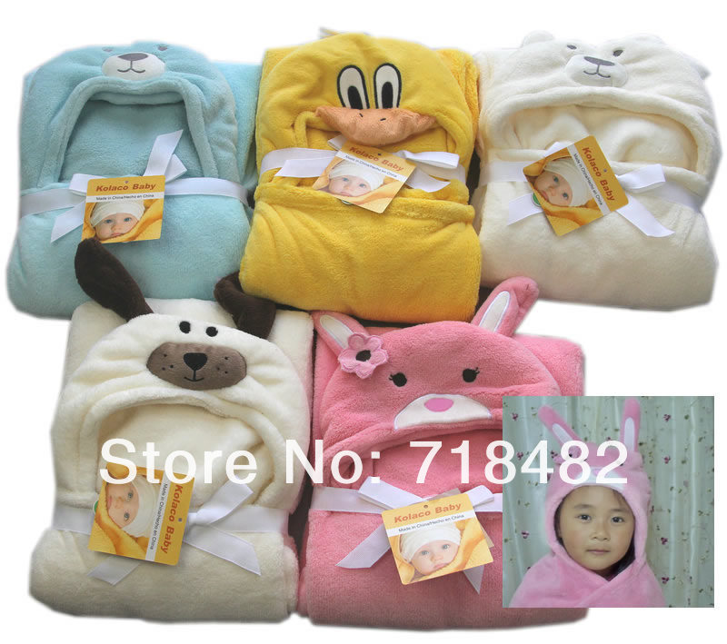 2016 Swaddle New Ultra Soft And Cuddly Baby Blankets Hooded Cape Cloak Bath Towel Shapes Free Shipping 100cmx100cm Many Colors