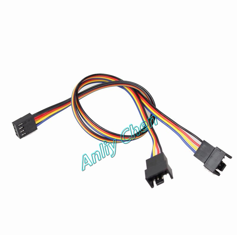 2 PieceS LOT 4Pin Female to Dual 2 4Pin Male Y-Splitter Adapter PWM Fans Power Extension Cable 30mm adroit 2016 new 35cm 3 5mm stereo male to 2 female headset mic y splitter audio cable adapter for phone jul25