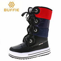 Fashion Winter boots non slip warm Boots 2018 hot selling winter boots free shipping plush fur lining New style lace up easy Bo