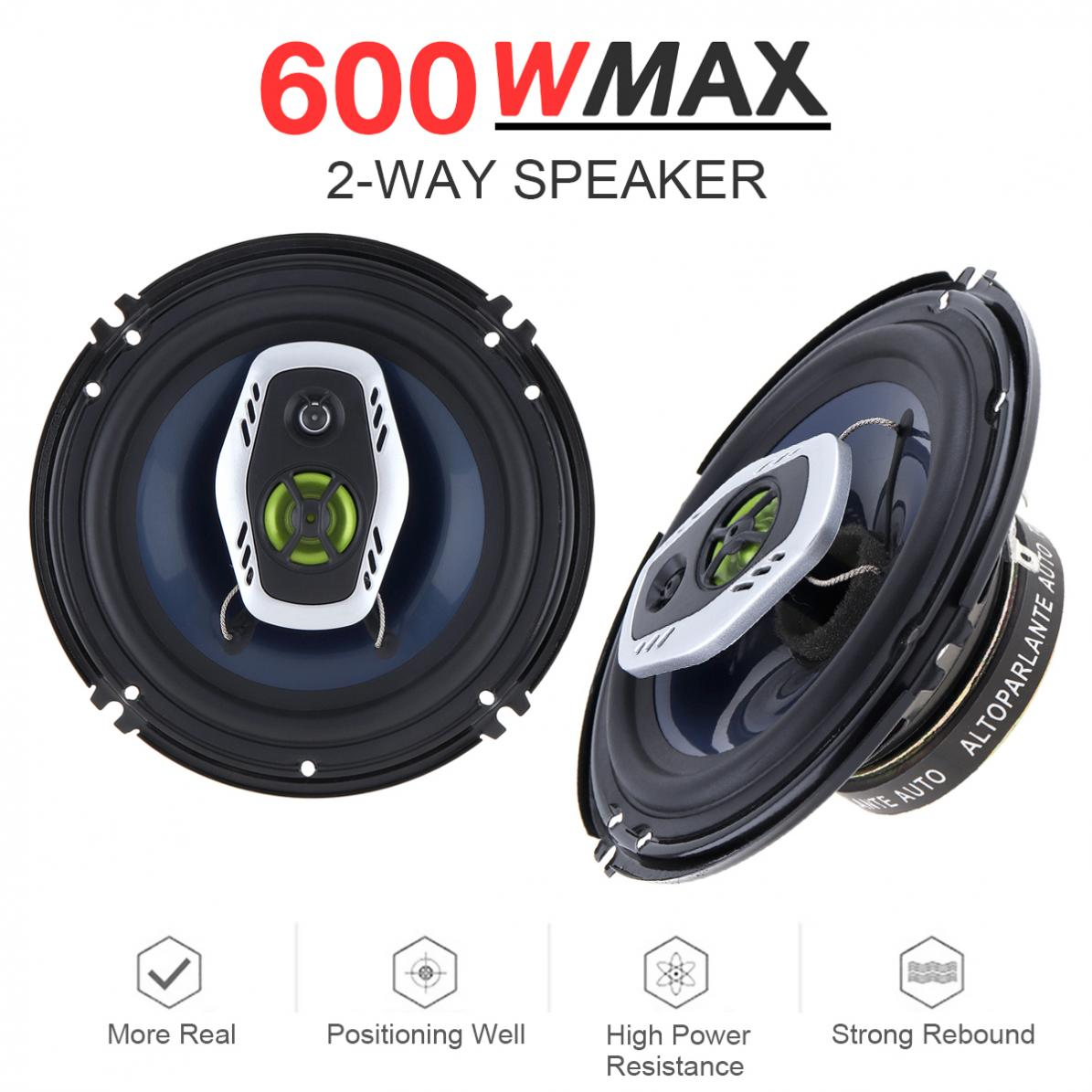 2pcs 6.5 Inch 600W 16cm 2 Way Universal Car Coaxial Hifi Speakers Auto Audio Music Stereo Speaker Non destructive Installati-in Coaxial speakers from Automobiles & Motorcycles    1