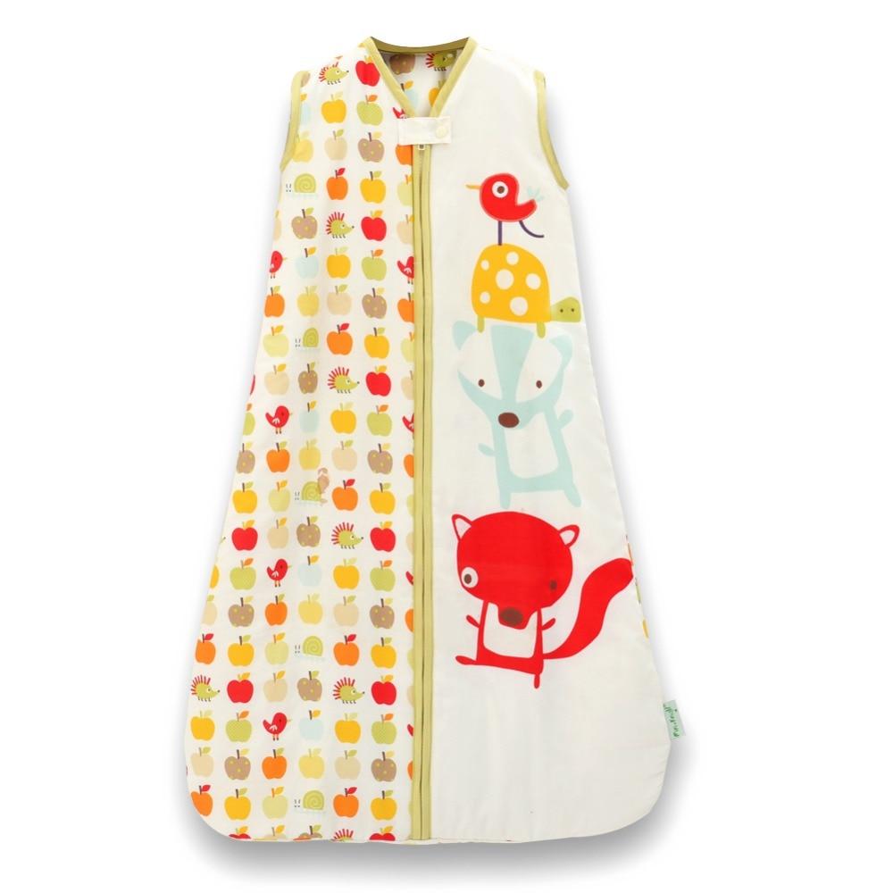 ФОТО Baby Sleep Sack 100% Cotton Wearable Swaddling Blanket Dobby Prints Sleep Bag saco de dormir 2.5 Tog