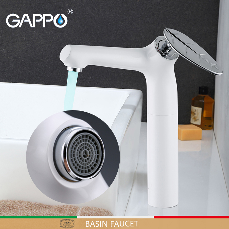 GAPPO tall Basin faucets brass mixer bathroom water tap Deck Mounted white Bath taps basin faucets mixer torneira do anheiro    GAPPO tall Basin faucets brass mixer bathroom water tap Deck Mounted white Bath taps basin faucets mixer torneira do anheiro