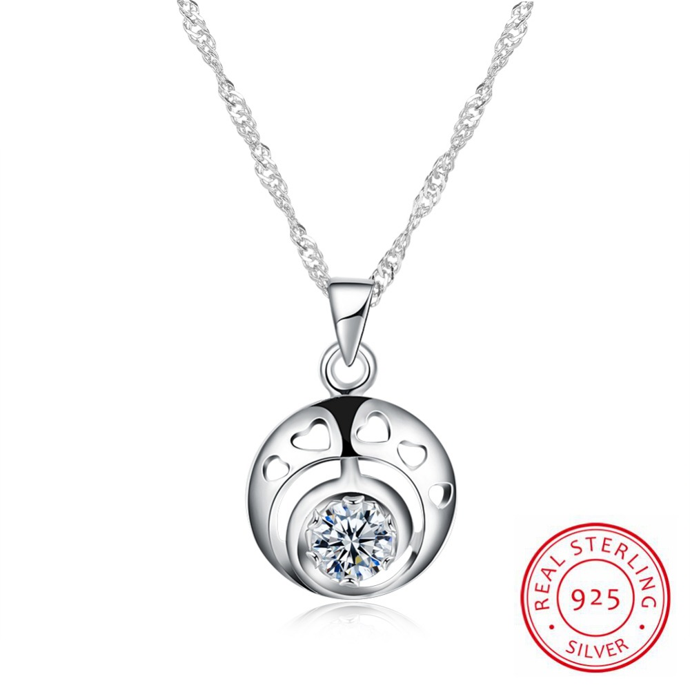 925 Sterling Silver Necklace Simple Classic Round Necklace Circle Clavicle Short Necklace 925 Sterling Silver For Women Collares925 Sterling Silver Necklace Simple Classic Round Necklace Circle Clavicle Short Necklace 925 Sterling Silver For Women Collares