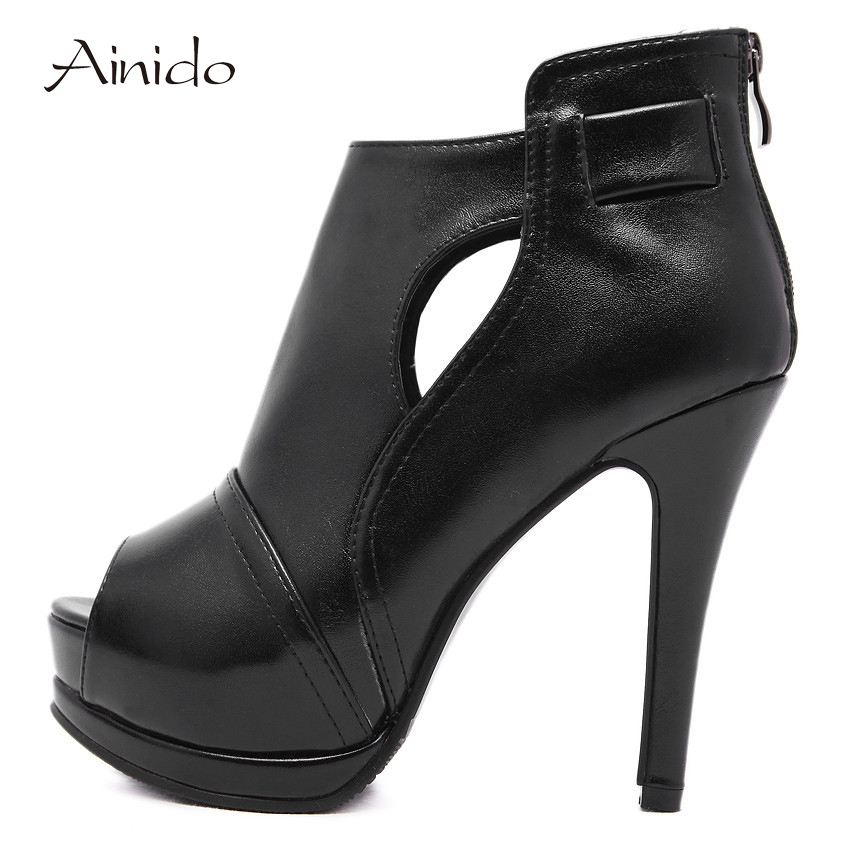 AINIDO New Womens Bridal Dress Sexy High Heel Shoes Wedding Platform Sexy Stiletto Heels Pumps Sapatos Femininos FootWear 2016 new women shoes spring womens platform genuine leather shoes pumps wedges female heels shoes sapatos femininos xj 056