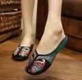 22 estilo primavera verão fashion Old Beijing bordado casa mulheres Chinelos sapatos femininos casuais sandálias sandalias mujer 35-40