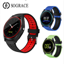 Bluetooth V10 Smart Watch With SIM Card 2G Camera Smartwatch Sport Health MP3 Music Clock Men Women For IOS Android