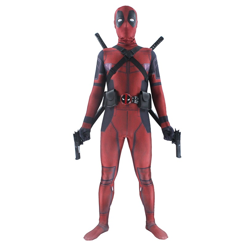Lady Movie Deadpool Mask High Quality Adult Accessories Cosplay Boys Full Body Deadpool Spandex Suit Men Costume For Kids 100% High Quality Materials