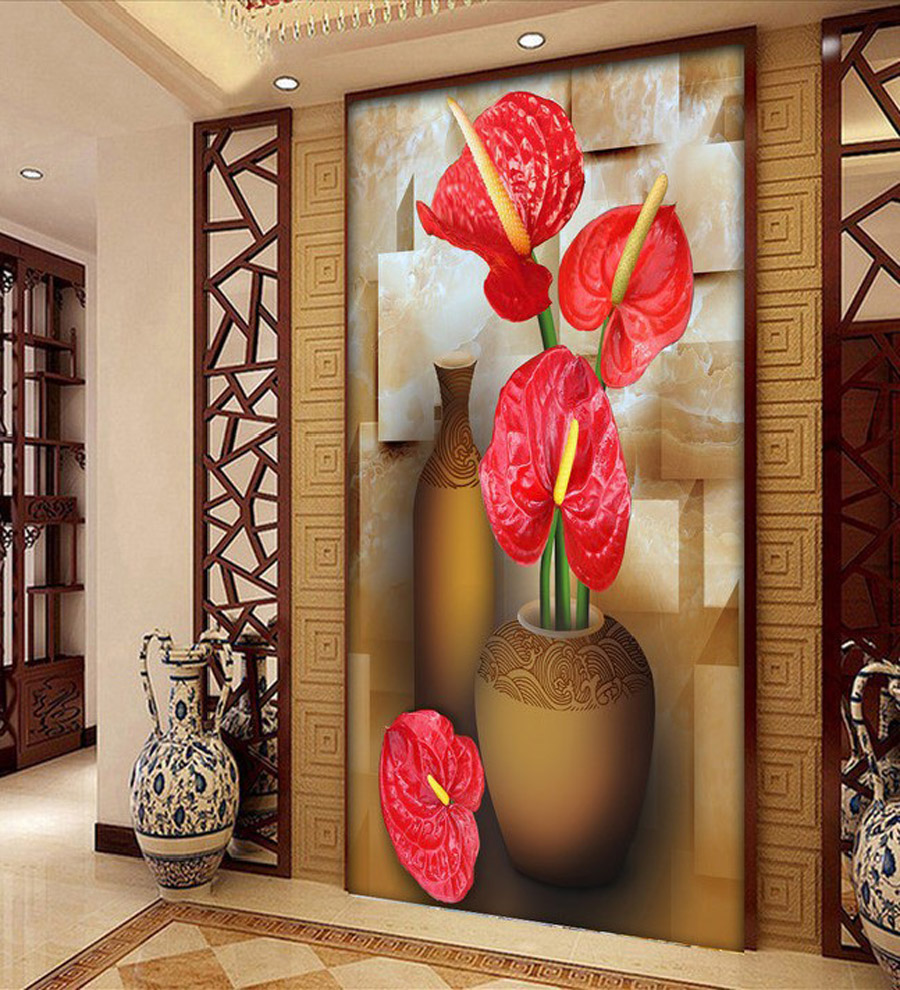Luxury Classic Floral Wall Paper Home Decor Background Wall Wallcovering 3D Wallpaper Bathroom Living Room Papel De Parede Rolls bathroom decor floral toilet lid wall sticker