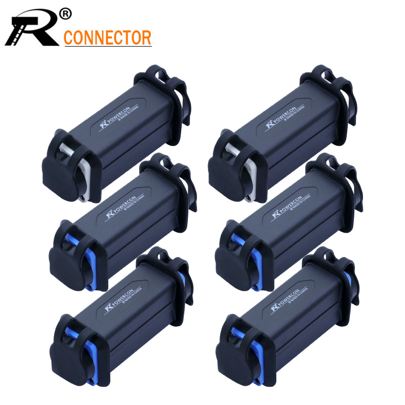 1PC Waterproof Powercon Female Panel Mount Jack To Jack Adapter PowerCon AC Coupler Extender Connector 3PIN Speakon