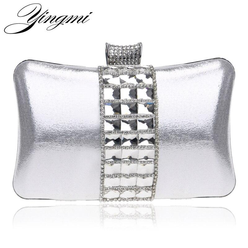 Bolsas de diamantes de Imitación de Metal Bolsas De Mensajero embragues Noche de