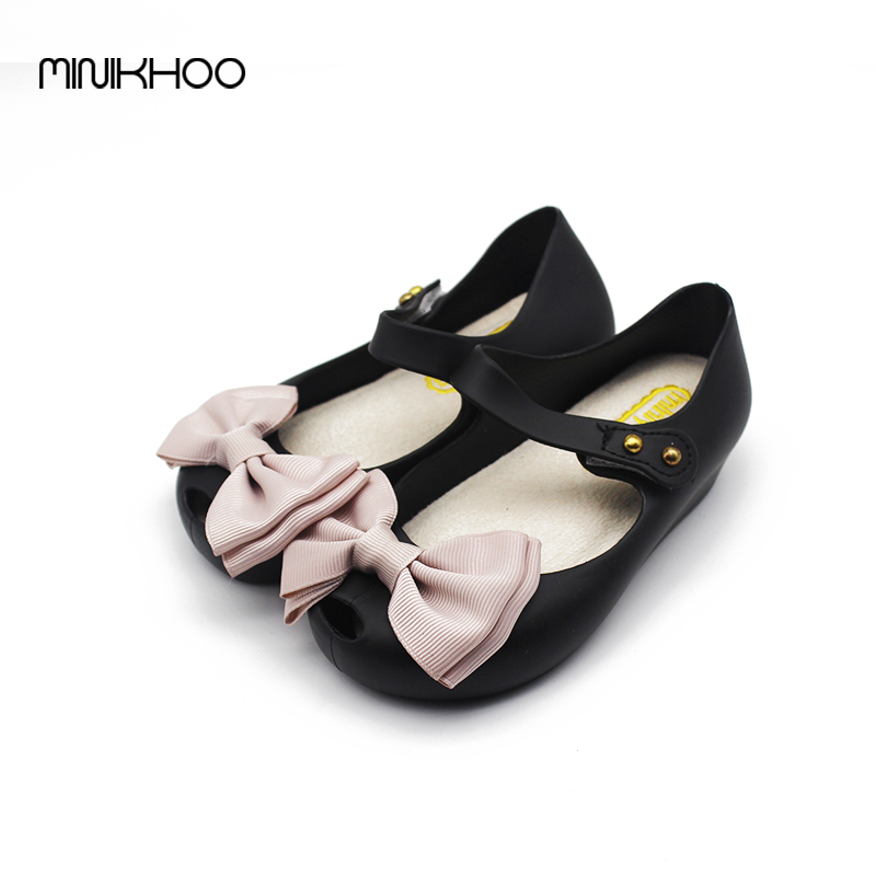 Cloth Bow Mini Melissa Girls Sandals Melissa Jelly Shoes Children'S Beach Sandals Soft Comfort Big Bow Sandals High Quality