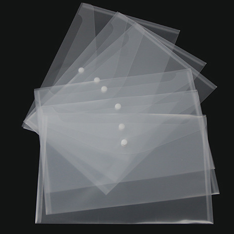 500PC Transparent Plastic A4 Folders File Bag Document Hold Bags Folders Filing Paper Storage Office School Supplier