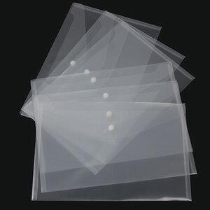 500PC Transparent Plastic A4 Folders File Bag Document Hold Bags Folders Filing Paper Storage Office School Supplier