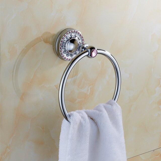 ⊱Salle de bains accessoires en laiton chromé serviette ...