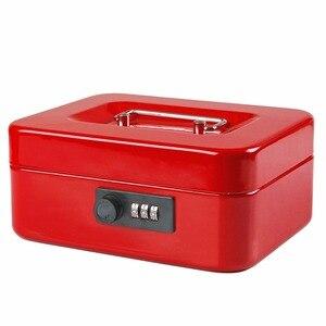 Image 5 - Cajas de seguridad de acero con llave y contraseña para guardar compartimento de almacenamiento, hucha de papel, pequeña, tarjeta de cambio, cajas de documentos con cerradura