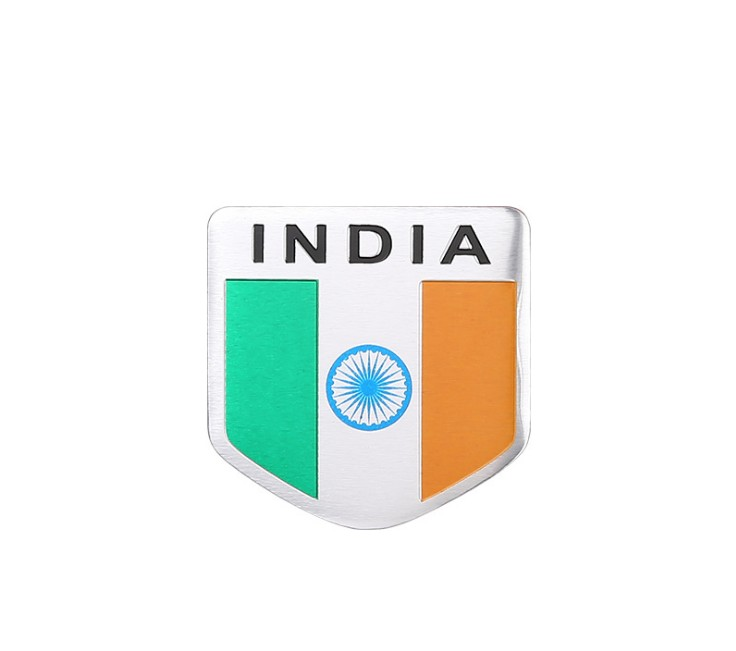 Aluminum Alloy India National Emblem Indian Flags Logo Car Body Stickers Shield-Styling 5X5CM
