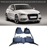 For Audi A3 2010 2013 Interior Car styling Customized Custom Waterproof Floor Mats Rugs Liner