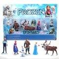 6 Pçs/set Disney Brinquedos para As Crianças Natal Presente de Aniversário Dos Desenhos Animados Figuras de Ação Congelado Anime Figuras Da Moda Modelos Anime Juguetes