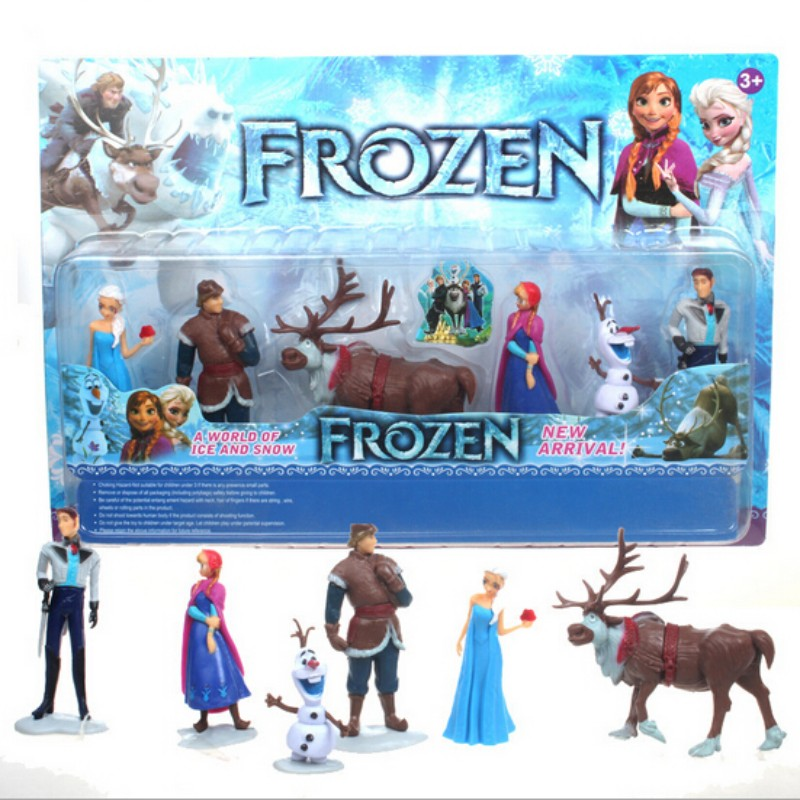 6Pcs/Set Disney Toys for Kids Birthday Xmas Gift Cartoon Action Figures Frozen Anime Fashion Figures Juguetes Anime Models 6pcs set disney trolls dolls action figures toys popular anime cartoon the good luck trolls dolls pvc toys for children gift