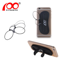 Ship from EU Unisex Nose Clip Glasses Thin Portable Reading Glasses with Phone Stands Glasses Case Mini Pocket Pince Nez Optics
